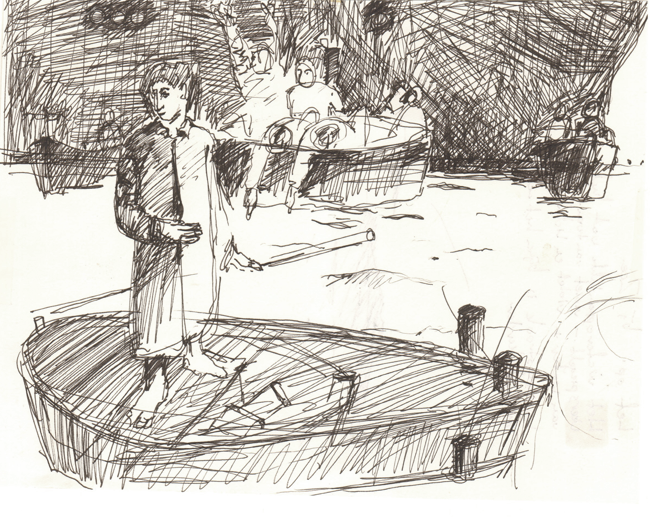Lichtmatroos (schets ) 1987