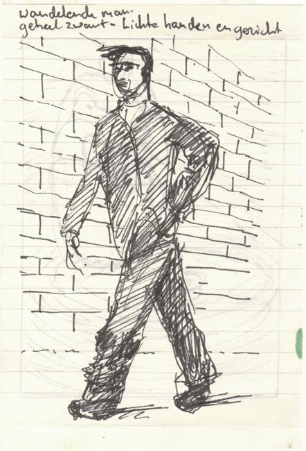 Wandelende man 1988