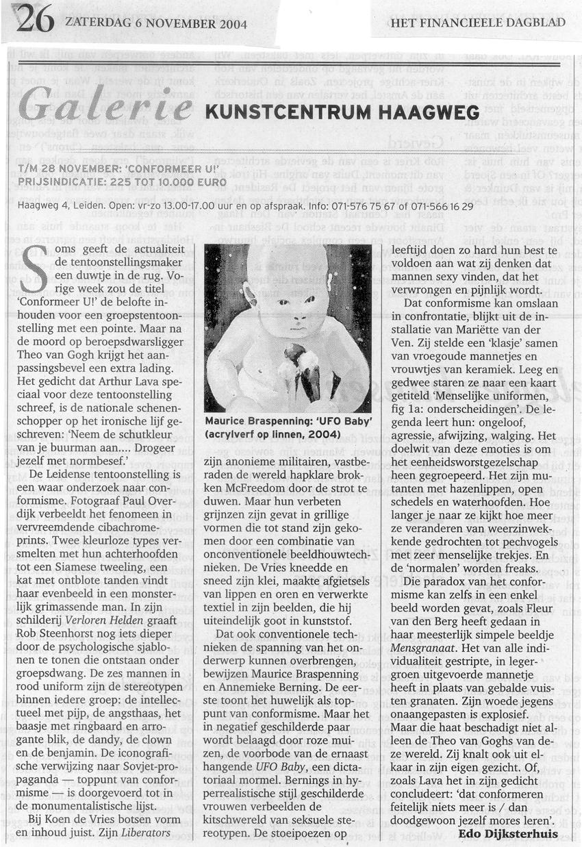Recentie Het Financiëel Dagblad 6 11 2004 850 breed