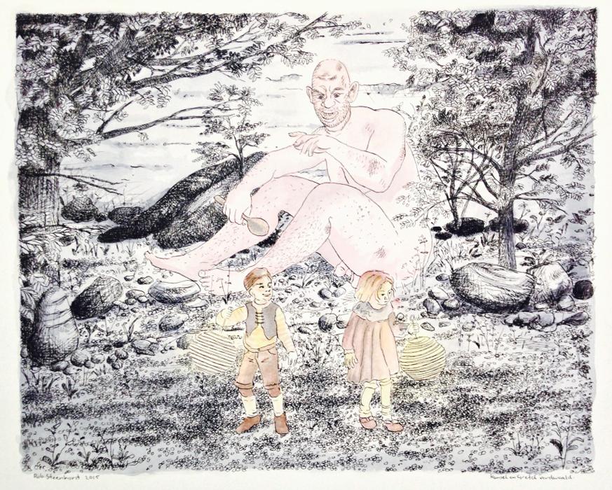 Hansel en Gretel studie (pen)